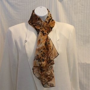 Accessories - Leopard and Tiger Print Long Scarf